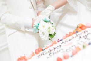 ♥・・・幸せの共同作業『ケーキ入刀』・・・♥